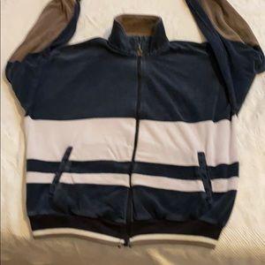 VTG 70's Pierre Cardin szM navy velour zip jacket